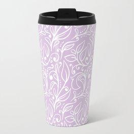 Floral Leaf Pattern X Travel Mug