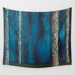 Inside the dark forest Wall Tapestry