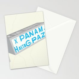 Latin American Bus Sign Collage Stationery Cards