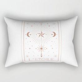 L'Etoile or The Star White Edition Rectangular Pillow