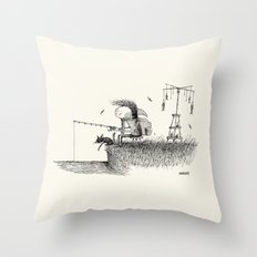'At The River' Throw Pillow