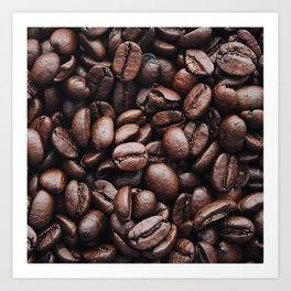 Coffee beans pattern Art Print