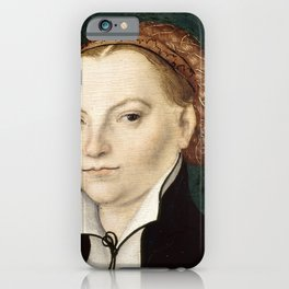 "Lucas Cranach the Elder ""Katharina von Bora"" iPhone Case"