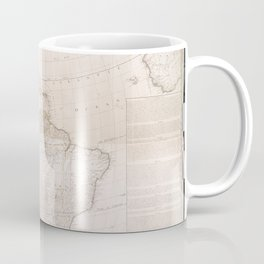 North And South America 1777 Coffee Mug