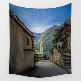 Streets of Hallstatt Wall Tapestry