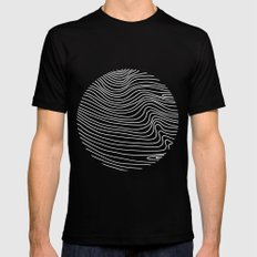 Min Wave Inverse MEDIUM Black Mens Fitted Tee