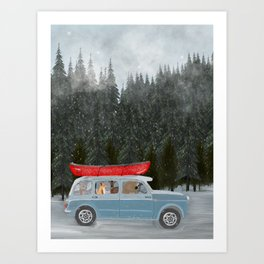 winter holiday Art Print