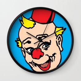 clown art, clown illustration, clown pop art, home decor Wall Clock