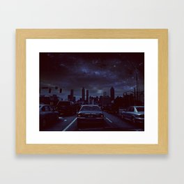 atlanta night Framed Art Print