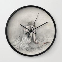 The Grey Wolf Wall Clock
