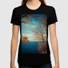The View From the Top X-LARGE Black Womens Fitted Tee