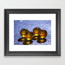 4(DRGNBALLS) Framed Art Print
