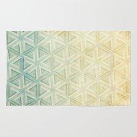 escher Area & Throw Rugs featuring escher pattern by Vin Zzep