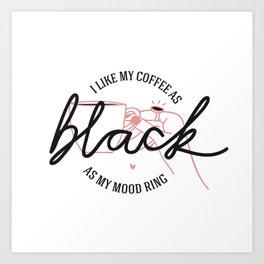 coffee rules I Art Print