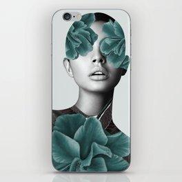 Floral Portrait (woman) iPhone Skin