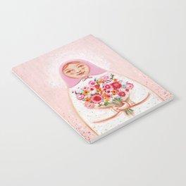 Matryoshka with flowers Notebook