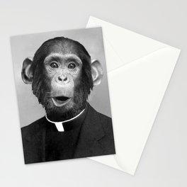 Reverend Chimp Stationery Cards