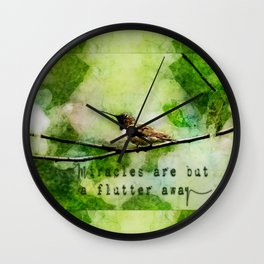 Hummingbird Miracles Wall Clock