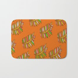 Summer Time Leaves Bath Mat