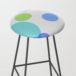 Blue Circles Bar Stool