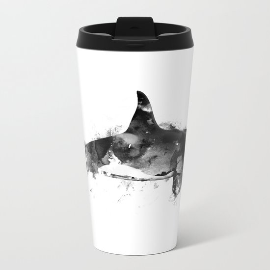 Killer Whale Metal Travel Mug