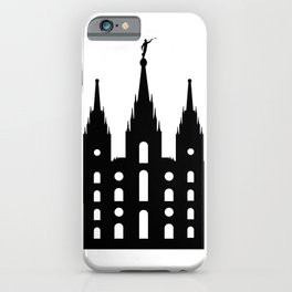 Mormon Style Temple iPhone Case