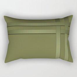 olive, basket weaving Rectangular Pillow