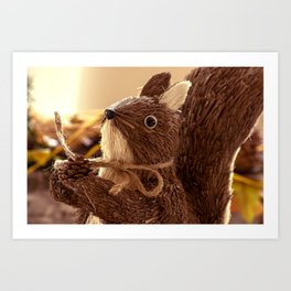Penita and the pinecone Art Print