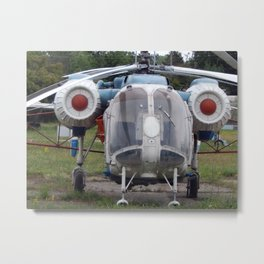 Civil and military helicopters in detail Metal Print