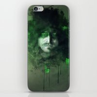 green arrow iPhone & iPod Skins featuring Arrow by Rose's Creation