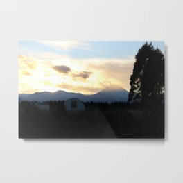 Sunrise Magic Mt Ngauruhoe Metal Print