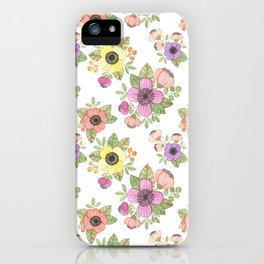Yellow Bunch Watercolor iPhone Case