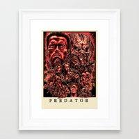 predator Framed Art Prints featuring Predator by Daniel Hatcher