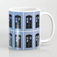 dr who Mugs featuring Dr. Who Tile by Dixiebell