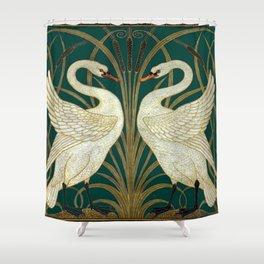 Walter Crane's Swan, Rush, Iris Shower Curtain