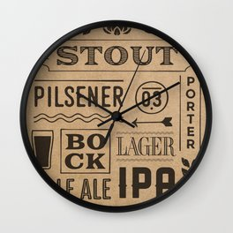Type beer Wall Clock