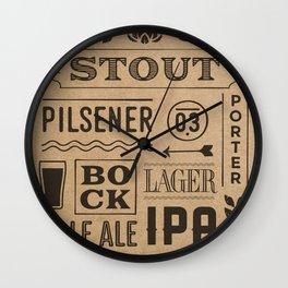 Type beer Wall Clock