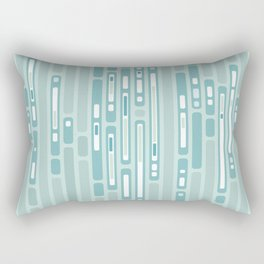Ocean Reflection – Blue / Teal Midcentury Abstract Rectangular Pillow