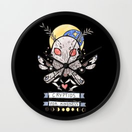 Cryptids for Kindness Wall Clock