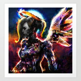 metal angel Art Print