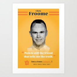 Heroes of The Tour de France - Chris Froome Art Print