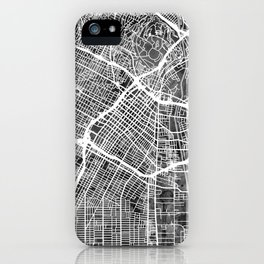Los Angeles City Street Map iPhone Case