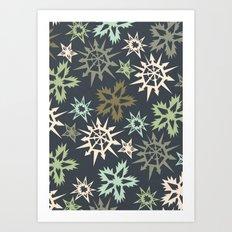 unlikely snowflakes Art Print