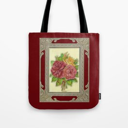 Bunch of Roses red design Tote Bag