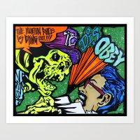 skeletor Art Prints featuring Skeletor by Hugo Maldonado