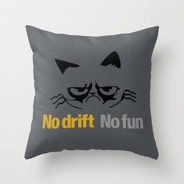 No drift No fun v1 HQvector Throw Pillow