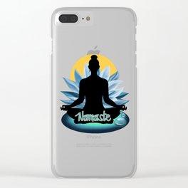Yoga 7- Meditation Namaste Clear iPhone Case