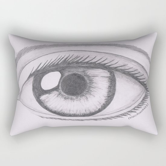 Keep your eyes open and see.... Rectangular Pillow