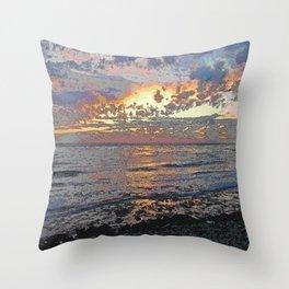Sunset Seascape Throw Pillow