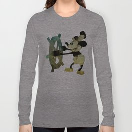 Mickey Mouse as Steamboat Willie Long Sleeve T-shirt